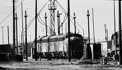 Western Pacific F7 locomotives at Stockton in 1977 (Tangled Bank) Tags: train trains railway railways railroad railroads old classic heritage vinyage california vintage north american motive power 1970s 70s