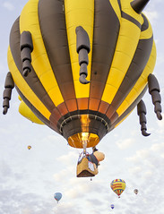 Albuquerque Hot Air Balloons 2 (rschnaible) Tags: albuquerque hot air balloon fiesta festival flight vehicle transportation sport outdoor color colorful