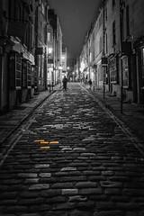 Gold Cobbled Street - Bath (myfrozenlife) Tags: night england 5dmkiii uk bath golden blackandwhite blackwhite gold bw aerialphotos mono street bird