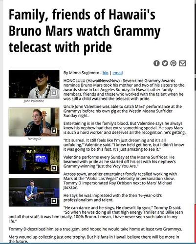 Bruno Mars fan photo