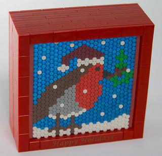 Lego Christmas Robin