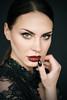 Sandra F. #7 (Georg F. Klein) Tags: sandraf model portrait glamour beauty portraiture red lips natural light illumination eyes fuji xt2 56mm adp