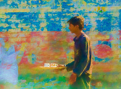dreamy tea for two (Pejasar) Tags: boy youth serving tea twocups dreamy art artistic color india newdelhi