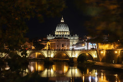 Rome, Italy 15/11/2017 (leonardozaidan) Tags: amazing art aroundtheworld achitecture wallpaper camera canon water bridge world downtown reflection river rome roma explore europe beautiful perspective travel traveller tree street sky city citylife italy building lights light night nightlife color colour creative cathedral church longexposure photography photo flickr vatican history old