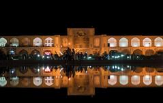 gold of esfahan, iran (Tina Grdić) Tags: iran silkroad esfahan isfahan bazaar bazaarentrance میداننقشجهان naqshejahansquare safavid unescoheritagesite unesco middleeast minoltabeercan nightscape orient isfahangrandbazaar keisariagate sonyalpha7m2 people iranian golden water reflection seljuq travel ngc ايران qeysarriyeh