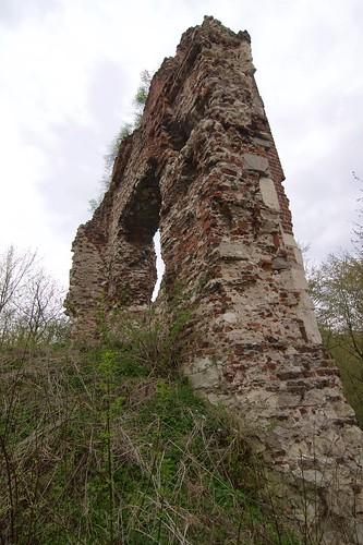 Ruiny zamku w Bochotnicy od wschodu