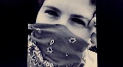 Personnal gangsta (nashbridges6676) Tags: bandida blackandwhite homegirl gangsta bandana chola french eye look sexy smile strong regard brunette confiance selfconfident quiet thuglife robber cosplay