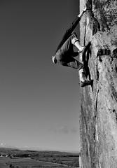 2017.11.24 - Almscliff - DSC_3960 (kampalakid63) Tags: d810 dslr nikon bouldering harrogate yorkshire northyorkshire whiteandblack blackandwhite crag almscliff almscliffcrag climbing