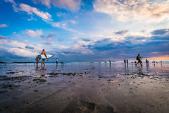 Surfing at Sunset (sean lancaster) Tags: surfing kutabeach beach a7rii sunset bali voigtlander angle 15 indonesia sony kuta mirrorless wide ultra