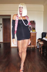 Karen (Karen Maris) Tags: karen tgirl tgurl tg legs pantyhose tights tranny trannie transvestite transsexual transgender heels highheels blonde scarf crossdress crossdresser