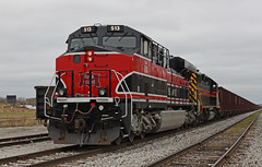 IAIS 513 (GLC 392) Tags: iowa interstate silvis il illinois 513 ge iais es44ac gevo emd sd382 154 dark cloudy rock island railroad railway train