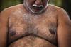Man at Kaveri bathing ghat (puuuuuuuuce) Tags: india ghat bathing man srirangapatna hairy
