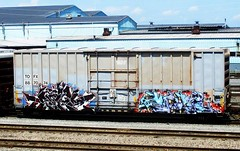 serp - cole (timetomakethepasta) Tags: serp cole freight train graffiti art tofx boxcar benching selkirk new york