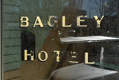 Bagley Hotel (arbyreed) Tags: arbyreed hotel bagleyhotel fadingsign glass window windowwednesdays hww dirtywindow goldleafsign rupertidaho minidokacountyidaho fenster