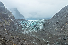 Fox Glacier New Zealand (redfurwolf) Tags: newzealand nz foxglacier glacier ice rock mountain outdoor nature landscape clouds fog stone redfurwolf sonyalpha a7r sal70200f28gii sony