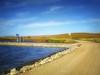 Railroad crossing 3 (mrbillt6) Tags: landscape rural prairie road pond waters outdoors county countryside northdakota