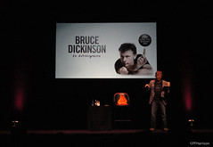 Bruce Dickinson impersonating Max Bygraves (pfh2010) Tags: bruce dickinson iron maiden lowry theatre