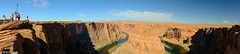 Horseshoe bend and the giant selfie stick (brian eagar - very busy - not much time to comment) Tags: horseshoebend landscape panorama fuji xf16 xt2 nature natural red redrocks sandstone redsand redsandstone arizona river coloradoriver meander carving canyon shadow cliff tourist edge selfie