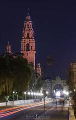 A Night in the Park (ihikesandiego) Tags: california tower balbo park el prado blue hour san diego