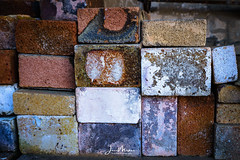 Textured Bricks (Wits End Photography) Tags: neglected art discarded old discolored texture textures abstracts forgotten bleached forsaken pale faded weathered abandoned faint decayed worn decay rejected blanched decolor fade pattern textured washedout whitened