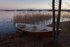 Autumn eve (Antti Tassberg) Tags: iltarusko landscape syksy vene espoo serene ranta afterglow autumn beach boat fall shore uusimaa finland fi