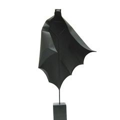 Batman - Origami by Yara Yagi (all things paper) Tags: paperheroes oldjaffamuseum paperart papersculpture yarayagi origami batman