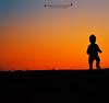 silhouette baby (Abdullah al suwaidi-عبدالله السويدي) Tags: silhouette baby desert step child jubail ksa saudi arabia orange
