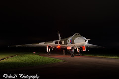 20171028-IMG_7240 (deltic21) Tags: vulcan raf air aircraft aircrew airfield airforce force royal bomber vbomber vforce xm655 avro wellesbourne war warplane warwickshire warks wars coldwar cold nuclear rolls royce olympus display preservation preserved restoration restored taxi runway museum delta lights recreation reenactor