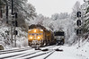 Snowmageddon (Kyle Yunker) Tags: union pacific up norfolk southern ns jac mac snow train