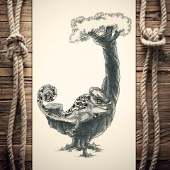 Jhameleon (reXraXon) Tags: art artwork pencilart drawing handdrawing sketch pencilsketch typography lettering handlettering letteringart chameleon tree