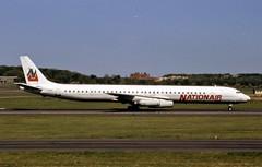 C-GQBA. Nationair Douglas DC-8-63 - Explored (Ayronautica) Tags: douglasdc861 ayronautica aviation scanned prestwick pik egpk nationair cgqba airliner