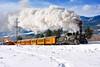 Winter Steam Train in Durango (MikeArmstrong) Tags: durango silverton steam train railroad snow k36 drgw rio grande locomotive