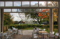 Jodrell Bank radio telescope from the cafe, October 2017 (alanhitchcock49) Tags: jodrell bank radio telescope discovery centre cheshire october 2017