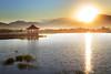 美濃湖日出 (黃昱峰) Tags: landscape lake sunrise mountain grass water colour canon 6d 台灣 美濃湖 日出 ef24105mm