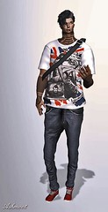 AsHmOoT_Men CoLL_NEW Poster (♡ AsHmOoT ♡) Tags: black men collection fashion mencollection boys boy jeans tshirt casual cigarette sneackers street streetstyle style