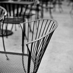 Cantor chairs (TPStearns) Tags: monochrome film tlr mamiyac330s