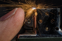 Light Fingered (Mark Wasteney) Tags: macromondays fingertips finger lighter sparks action macro closeup upclose metal metallic madeofmetal
