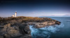 Elie Ness (ianrwmccracken) Tags: elie fife scotland scenic landscape panorama wideangle lowlight dusk evening bluehour lighthouse rock volcanic igneous sea water blur longexposure sky ianmccracken nikond750 nikkor1635mmf4 view winter november panoramic afternoon riverforth coast wide