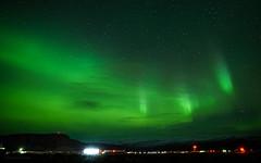 Embrace (Lisa Ouellette) Tags: challenges ilulissat greenland kangerlussuaq lightpollution greenlandgrandeur airport day8leaving aurora northernlights steve