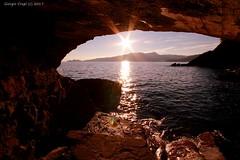 Waiting for the sunset (- Crupi Giorgio (official)) Tags: italy liguria zoagli sunset sea sun sky reef seascape landscape canon canoneos7d sigma sigma1020mm