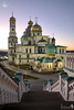 Downstairs from Gateway Church of New Jerusalem Monastery at Sunset (Guide, driver and photographer in Moscow, Russia) Tags: cathedrals istra newjerusalem orthodoxcathedrals russia sunset churches monasteries stairs moscow ru