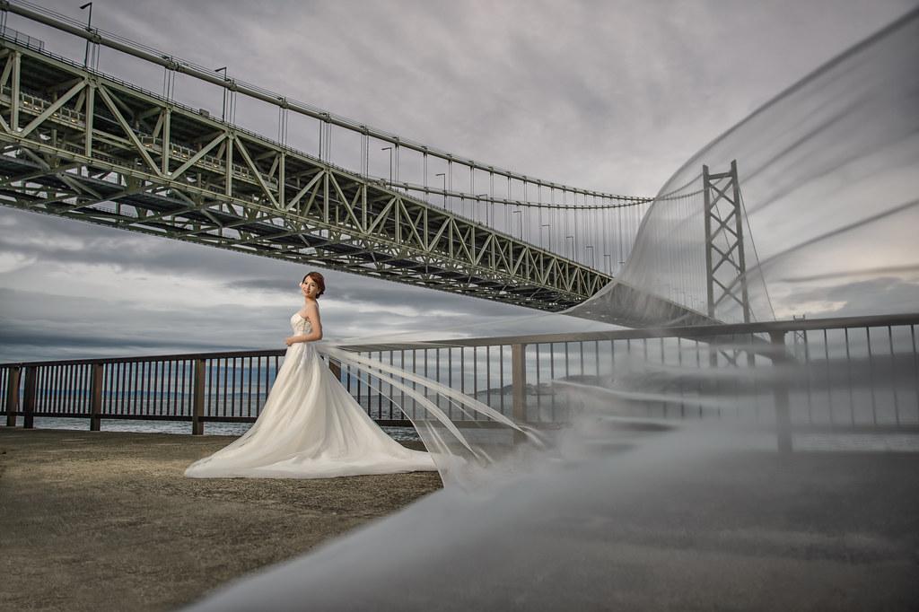 神戶婚紗 明石海峽大橋婚紗拍攝