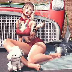 📷    Car wash. (ℒidsα) Tags: taketomi cosmicdust w6 cradlemebabyboutique astralia mishmish carwash redcar red poodle pet puppy pinup retro soap water rewind tattoo fameshed gacha buck indolent itdoll doll girl cute woman lotd fashion game gamer gamergirl gamedoll avatar sl secondlife slavatar slfashion free freebie mesh pixel virtual virtualworld beauty beautiful photo photograph snapshot clothing clothes picture blog blogger slblogger secondlifeblogger moda event osmia
