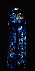 11 - Reims - Cathédrale Notre-Dame - Vitrail de Marc Chagall, Fenêtre centrale (melina1965) Tags: reims marne grandest octobre october 2017 nikon d80 église églises church churches vitrail vitraux stainedglasswindow stainedglasswindows