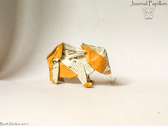 Journal Papillon - Barth Dunkan. (Magic Fingaz) Tags: anjing barthdunkan chien chó dog hond hund köpek origami origamidog perro pies пас пес собака หมา 개 犬 狗