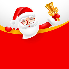 Signboard with Santa Claus (everythingisfivedollar) Tags: christmas merry vector santa claus jinglebells cute cartoon comic humor holiday celebration greeting character cheerful fun xmas newyear party card banner poster flyer blank empty signboard sign copyspace sale advertisement ad template letter snow snowfall winter headline invitation concept creative idea red golden background scene illustration christmastree merrychristmas