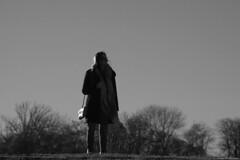 Sometimes in winter (Loran de Cevinne) Tags: pentax people personnage noiretblanc lorandecevinne blackwhite blackandwhite banlieueparisienne boulognesurseine silhouette elle she shadow