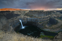 Palouse Falls 2 (sarah_presh) Tags: palouse falls palousefalls washingtonstate waterfall water longexposure flow sunset nikond750 leefilters polariser ndgrad rain weather clouds smooth