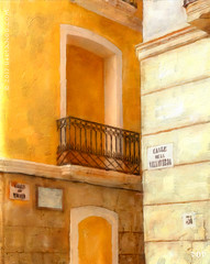 Villavieja - The Old Town (sbox) Tags: alicante spain painting textures painterly balcony old architecture buildings declanod sbox