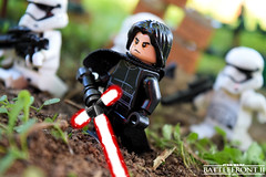 Kylo Ren, Unmasked (RagingPhotography) Tags: lego star wars battlefront battle front kylo ren first order stormtroopers storm troopers blaster weapons war conflict outside outdoors outdoor two ii 2 ea electronic arts video games villain dark side ragingphotography